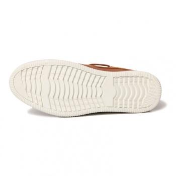 鞋底的花纹起到了防滑效果
