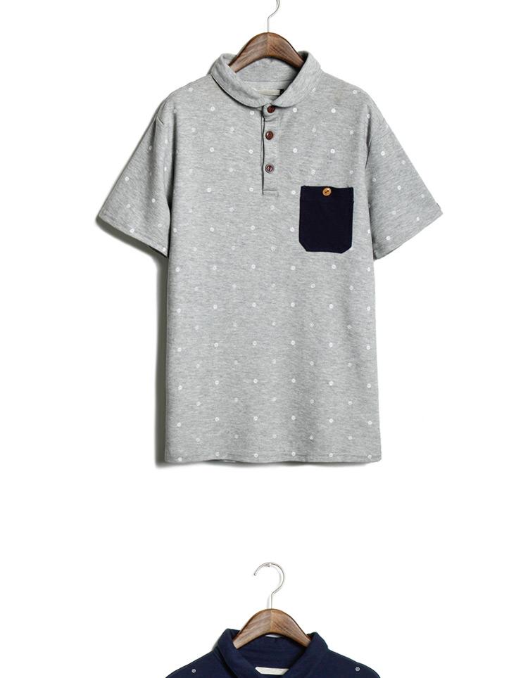 m2monline 2014夏装新款男士短袖t恤男翻领polo衫日系