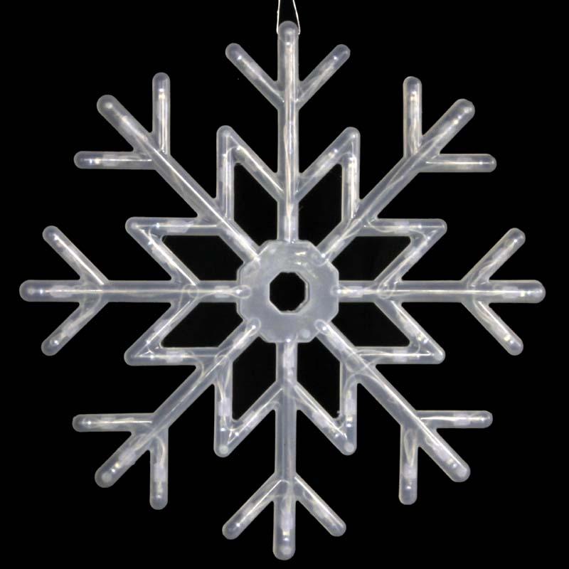 圣诞装饰灯 圣诞节用品 发光雪花 灯管雪花灯 白色光620g led雪花灯
