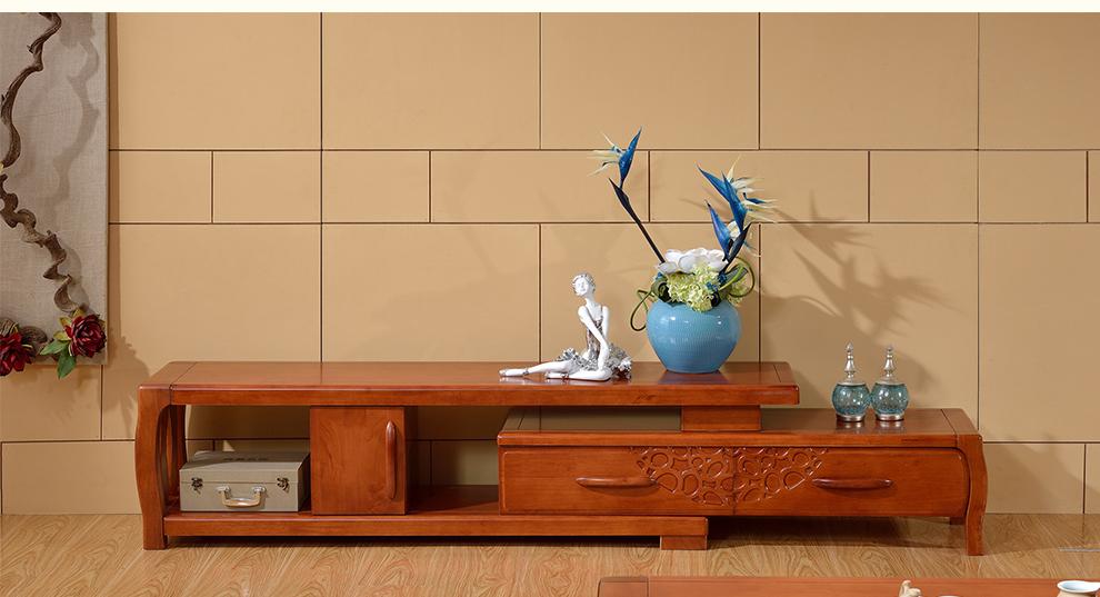成都家具馆朗维士家居 现代新中式实木电视柜 电视柜茶几组合 小户型图片