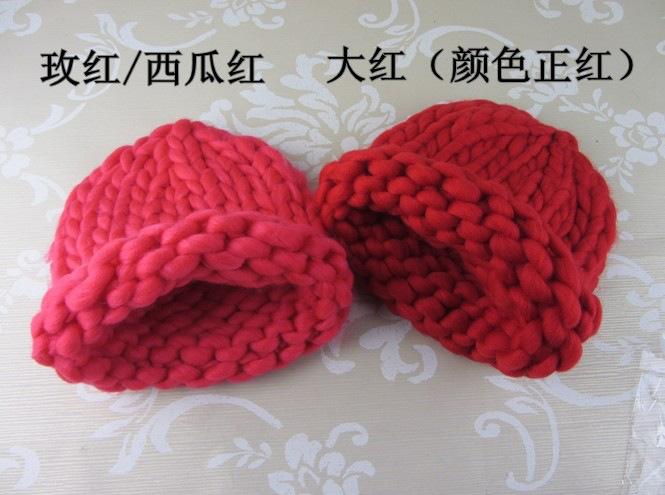 伊塔丽帽子手工编织粗毛线帽秋冬亲子帽8015 米色 可调节