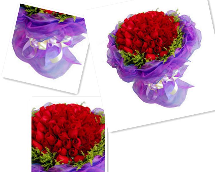 漫美心语圣诞节礼物99朵红玫瑰郑州同城鲜花速递鹤壁新乡订花濮阳送