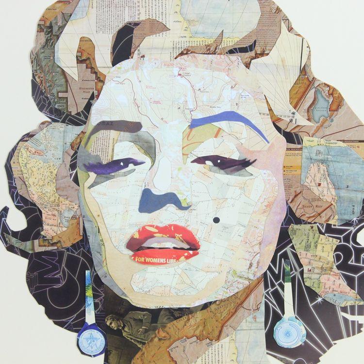 米戈家居 人物头像装饰画 创意画 现代简约 时尚挂画 玛丽莲梦露