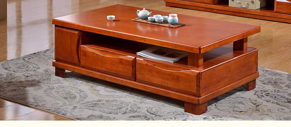 成都家具馆朗维士家居 现代新中式实木电视柜 小户型客厅电视柜茶几