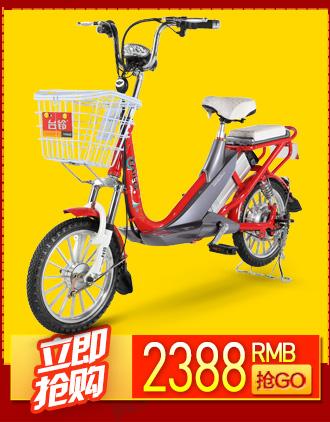 台铃电动自行车 48v锂电池电动车助力电单车 小雅铃 透明蓝 16寸一体图片