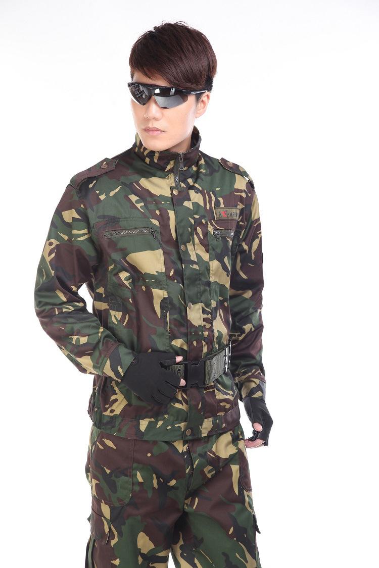 拘束封嘴套男_2015迷彩服套装男军训野战服丛林迷彩服 户外cs装备作