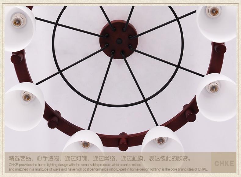 全科东南亚风格大气顶灯现代中式木艺吸顶灯客厅大厅灯别墅豪华灯饰 6图片
