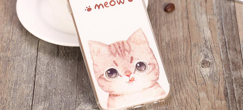 可爱小猫咪卡通手机壳/苹果6s卡通保护套 适用于苹果iphone6/6s/6p/6s