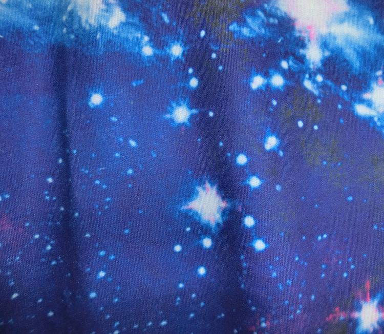 魔拓2015秋装新款原宿风迷幻宇宙星空银河宽松长袖卫衣 紫色星空 均码