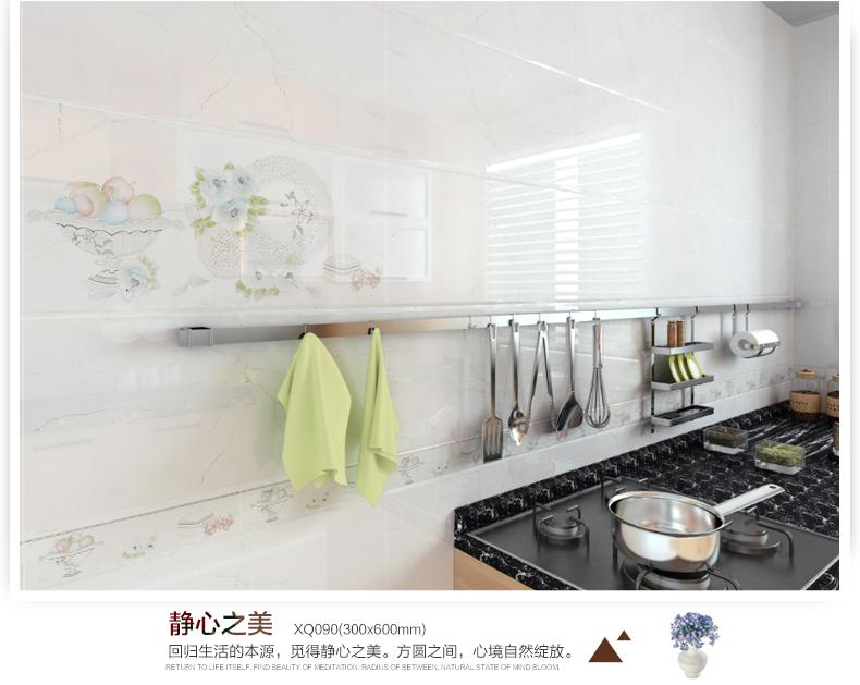 雄派 配套厨卫砖 厨房墙砖花片腰线 易清洁卫生间瓷砖图片