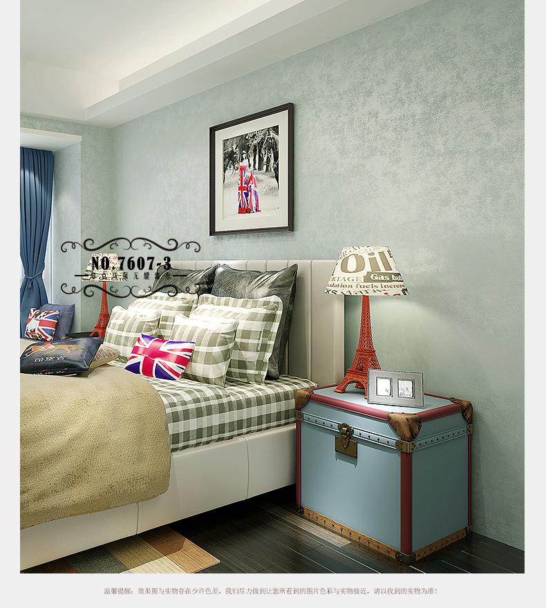 幕点 无缝墙布 简约美式地中海壁布 客厅卧室书房过道图片