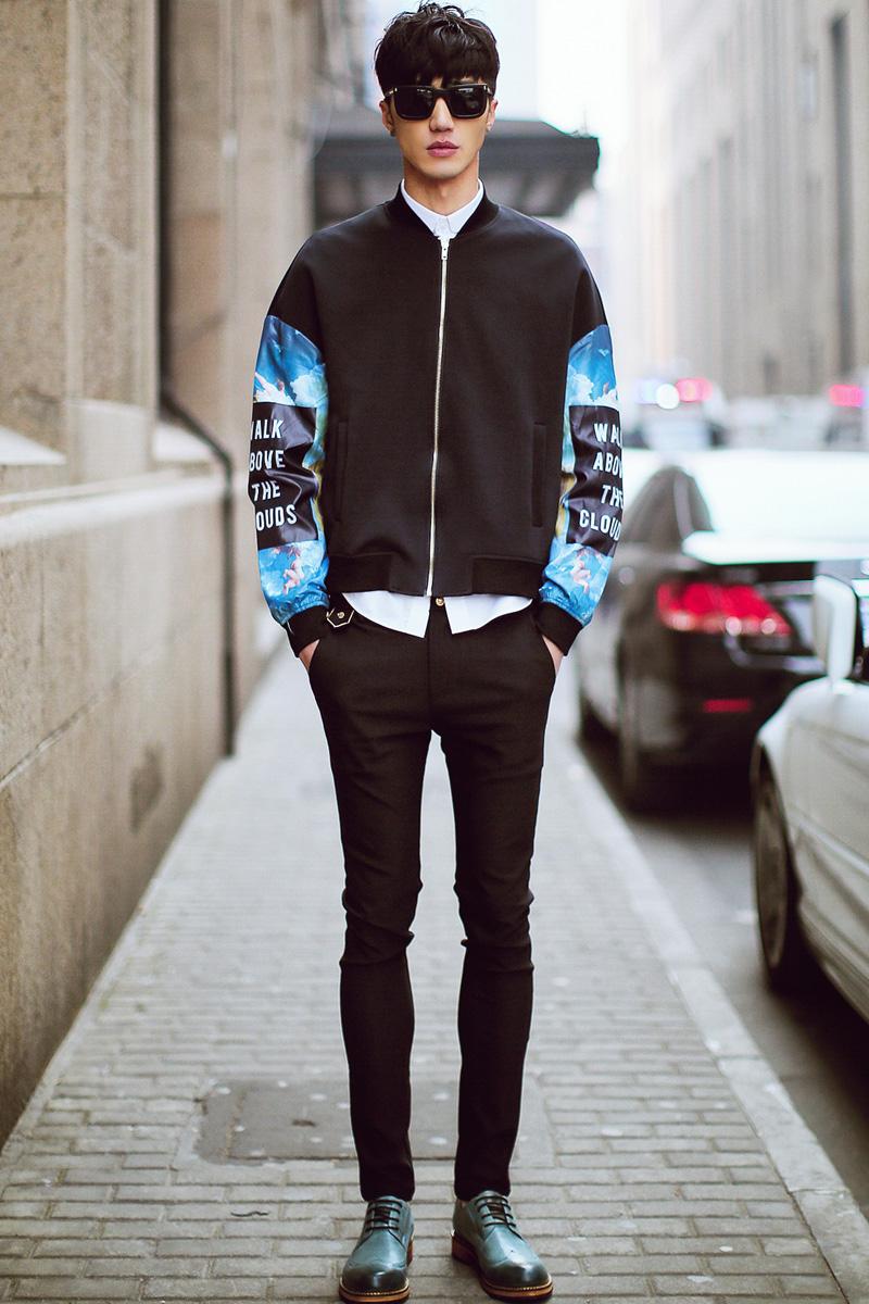时尚嘻哈服装手绘图片