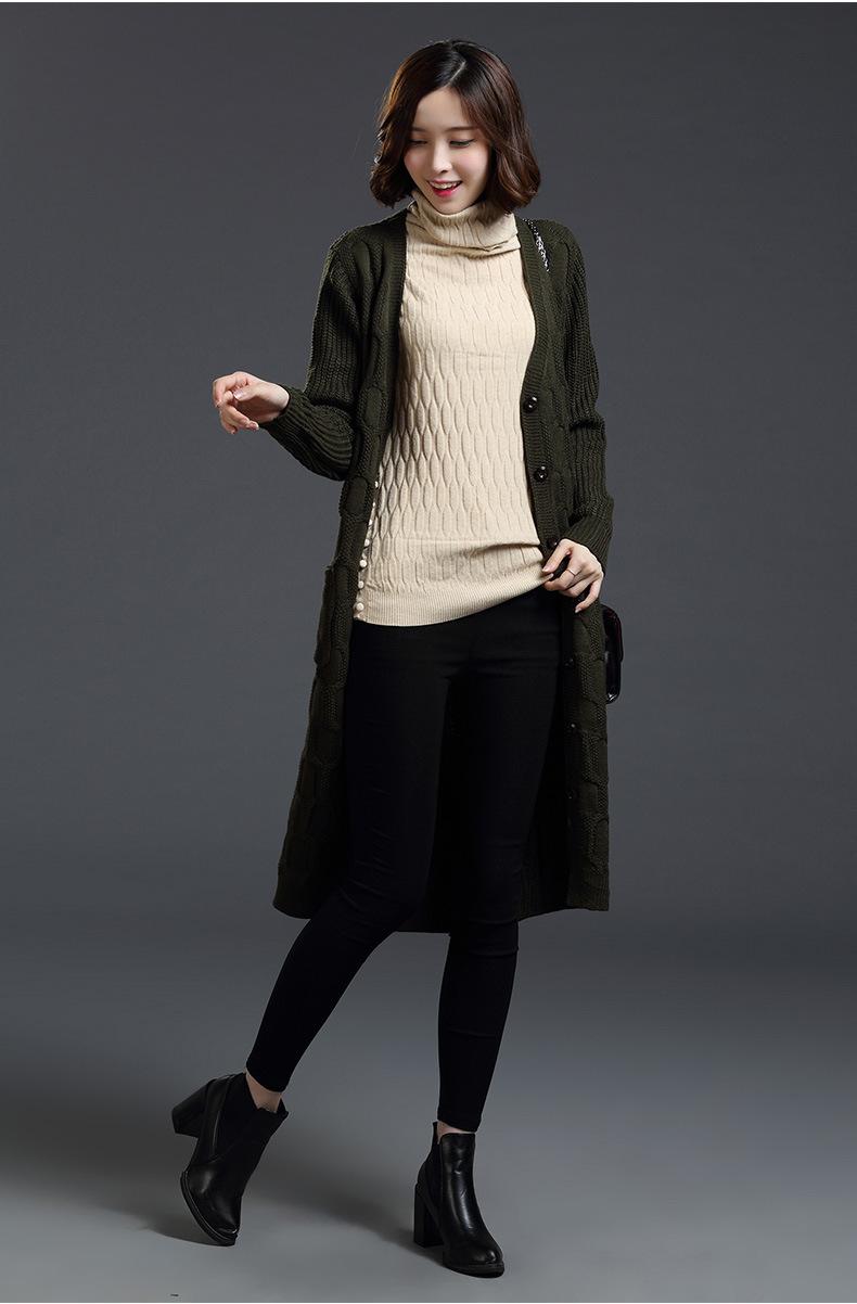 宽松女毛衣开衫时尚