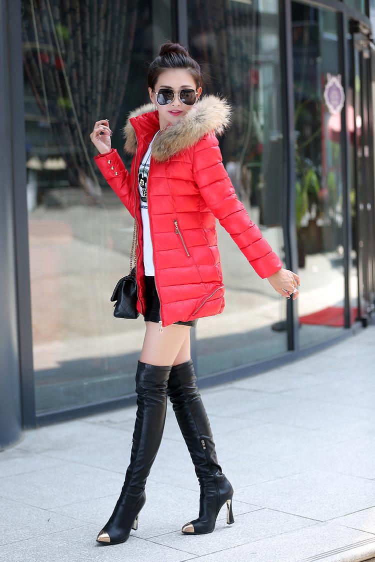 2015新款韩版修身棉衣女中长款冬季棉袄女式棉衣外套羽绒棉服女装