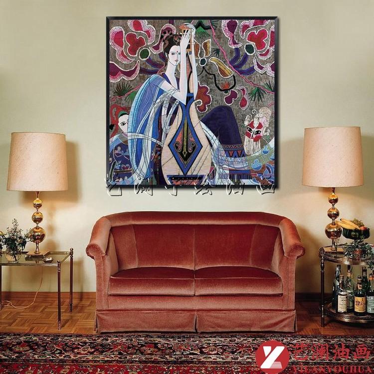 沙发彩色透视手绘
