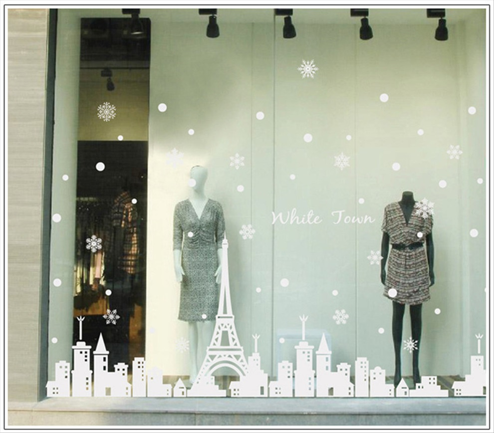 商店橱窗手绘设计图展示