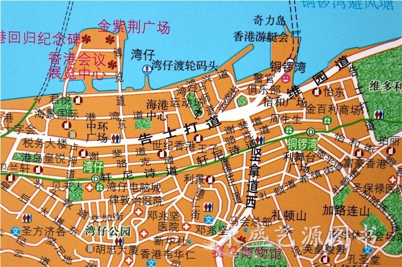 台北市+香港+澳门地图挂图