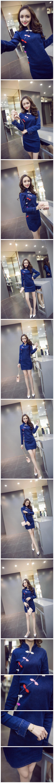 2016春装中国风女装唐装纽扣旗袍式牛仔连衣裙女装货