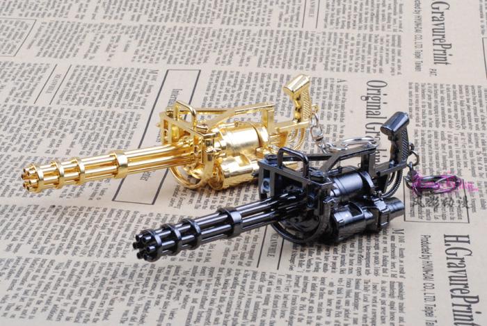 cf穿越火线英雄武器加特林武器枪模黄金加特林合金模型玩具枪 20cm图片