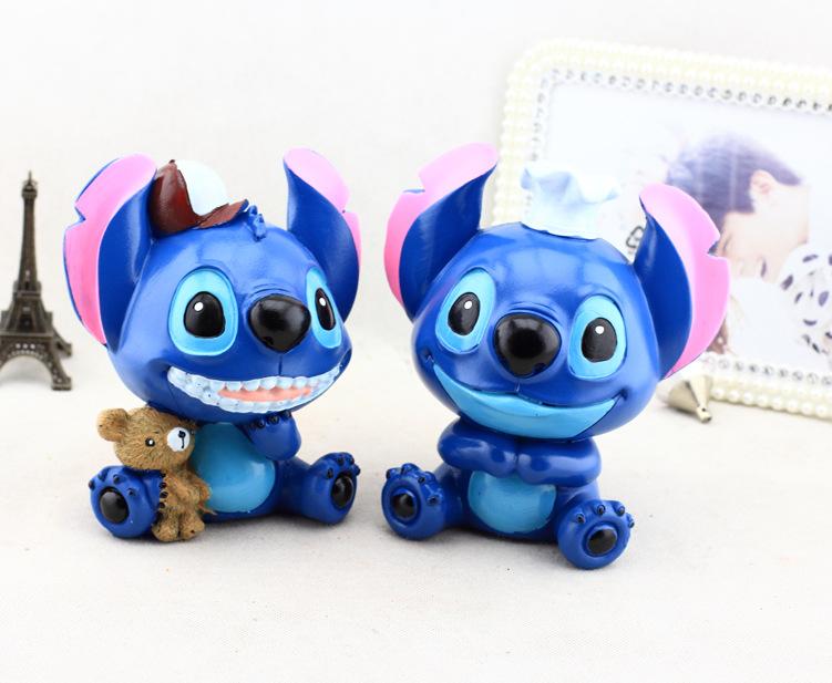 迪士尼树脂存钱罐 创意礼品礼物储蓄罐 可爱树脂娃娃家居摆件 闭嘴