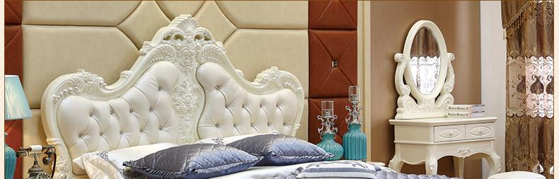 拉菲伯爵 欧式床双人床法式床实木床公主床田园床 欧式家具fa019 象牙图片