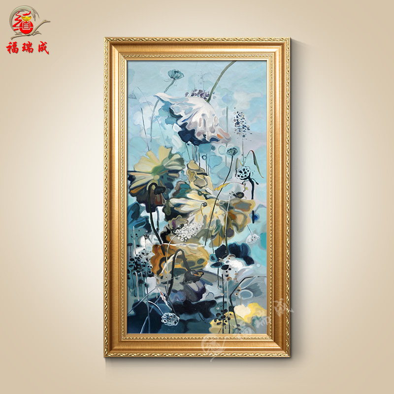 欧式油画手绘高档风景油画壁画风景客厅玄关古典山