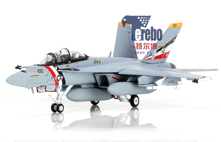 1:72f18大黄蜂战斗机模型 f/a-18f美国飞机模型合金静态军事成品