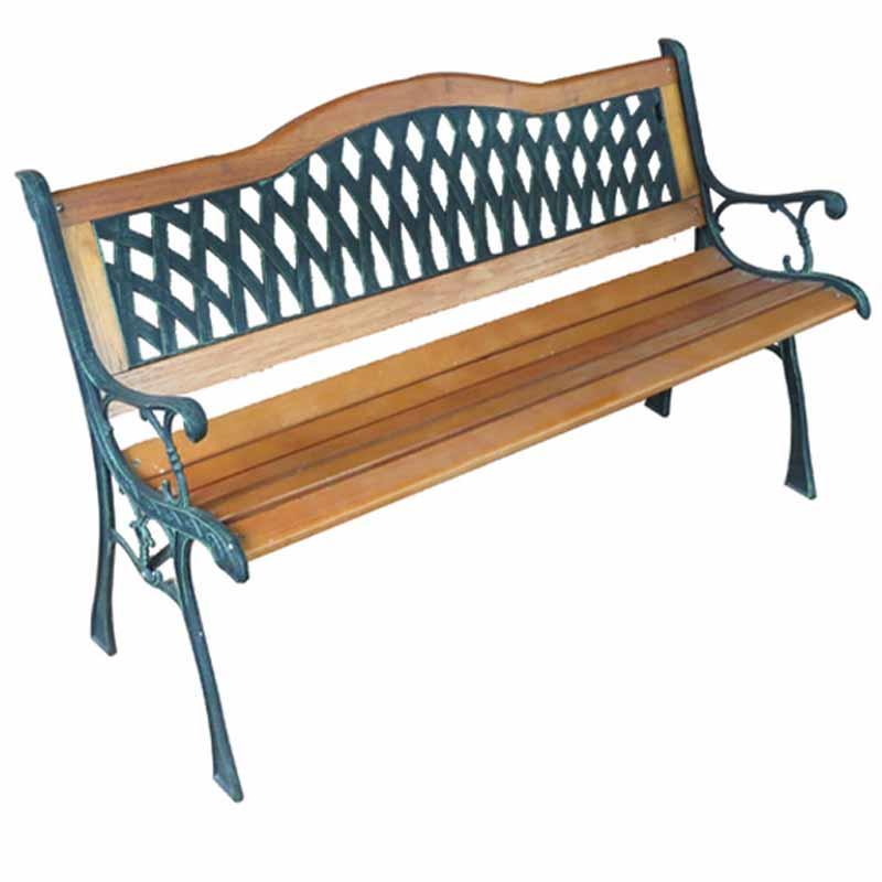 户外装备户外实木椅子欧式室外木休息椅公园广场休闲椅户外长椅 黑色图片