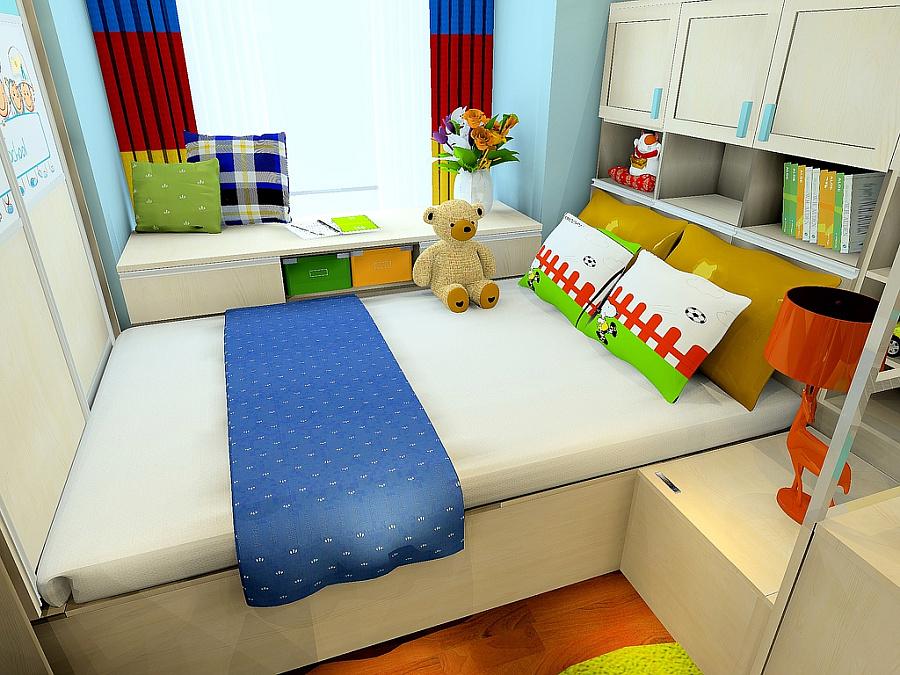 儿童房上下床设计图片展示
