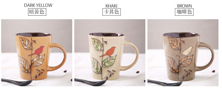 珍淘器茶杯 个性特色手绘陶瓷马克杯 咖啡杯 复古茶水