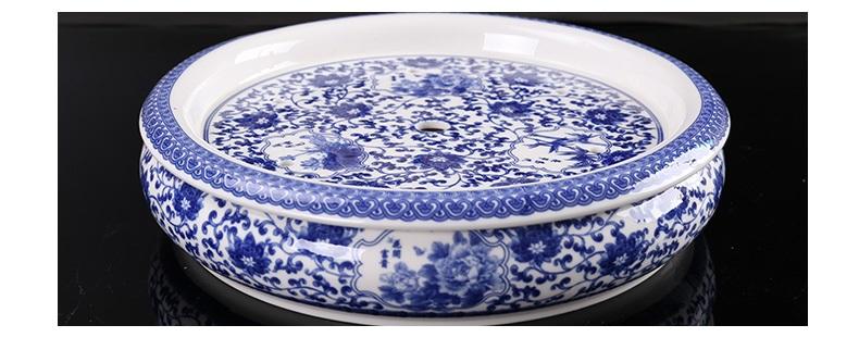 九龙仓陶瓷dh 景德镇陶瓷茶盘茶壶茶杯套餐饮具 整套青花瓷功夫茶具