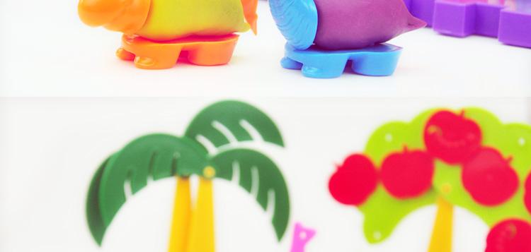 智高正品 3d彩泥12色橡皮泥粘土模具 儿童手工制作益智玩具套装 动物