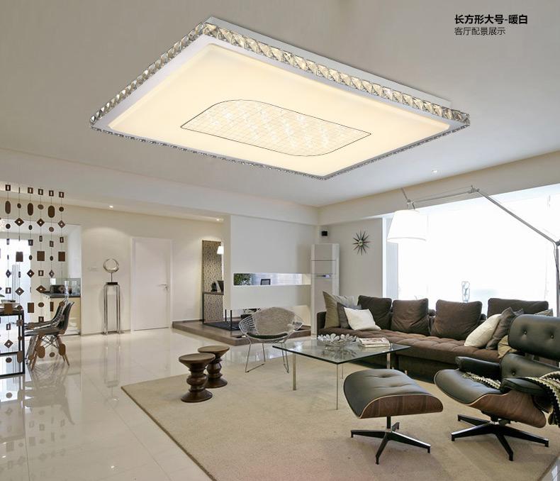 现代简约 led水晶吸顶灯 卧室灯 个性小客厅灯饰 灯具 x112 四头 钛金