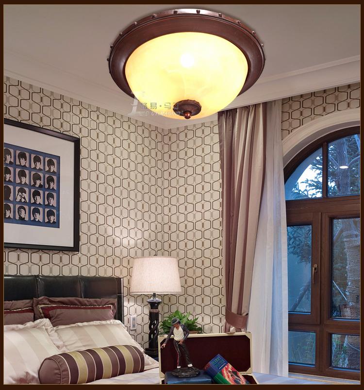 路易马丁欧式吸顶灯 卧室书房过道顶灯 美式乡村复古艺术灯饰灯具35/3图片