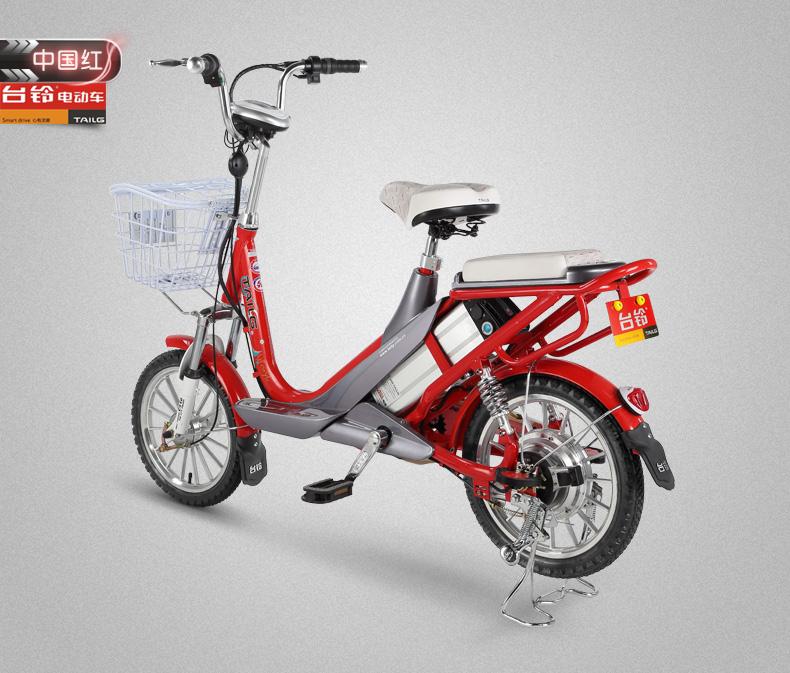 台铃电动自行车 48v锂电池电动车16寸助力电单车 小霏图片