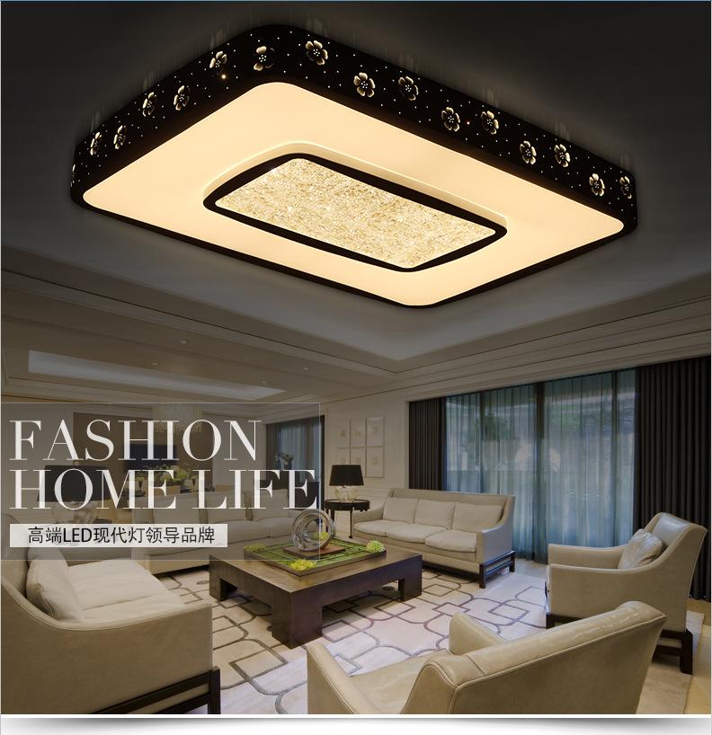 嘉仪 新款镂空客厅灯 长方形led吸顶灯现代简约卧室灯饰灯具批发 圆形