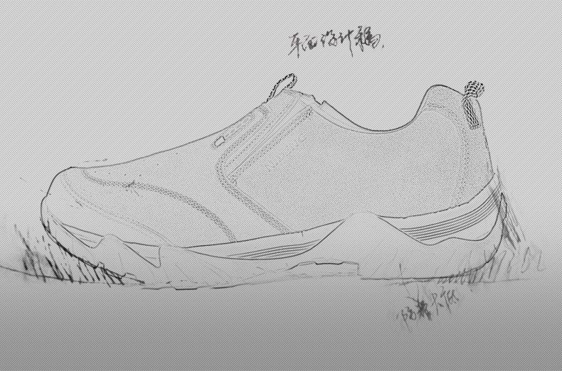 简笔画 手绘 线稿 鞋 运动鞋 790_522