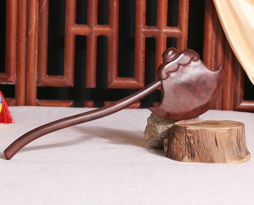 工艺品 木雕 【沉檀百年】印度小叶紫檀 斧头
