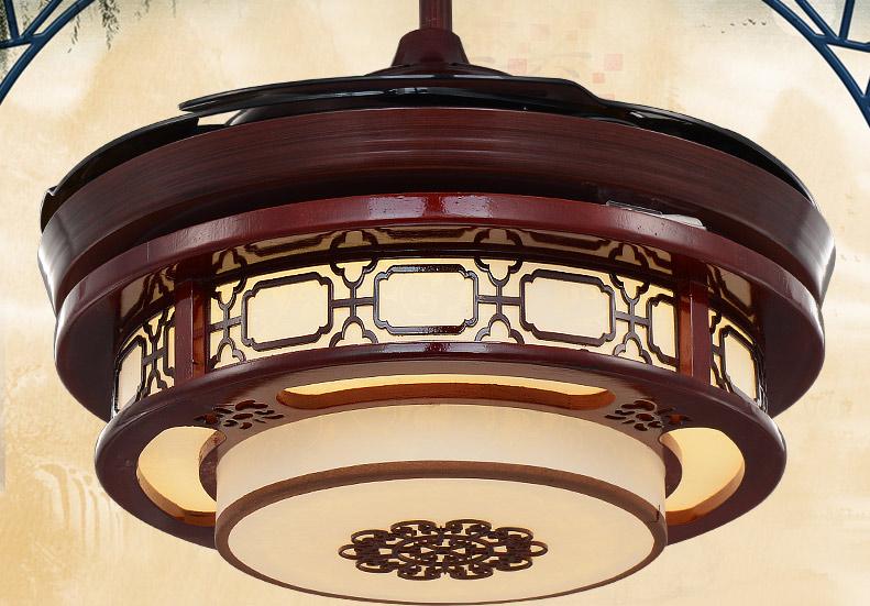 中式风扇灯图片