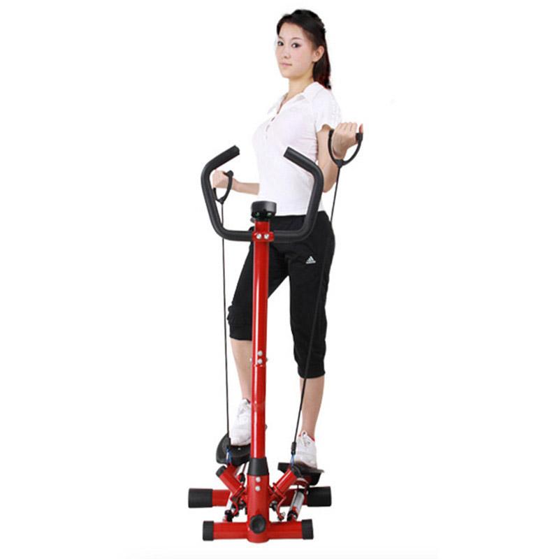 液压摇摆脚踏机 多功能扶手踏步机 运动健身器材 红色图片
