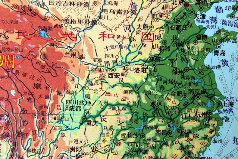 【官方正品】世界地形图挂图2米世界地图挂图2米 卷轴精品 挂图尺寸2