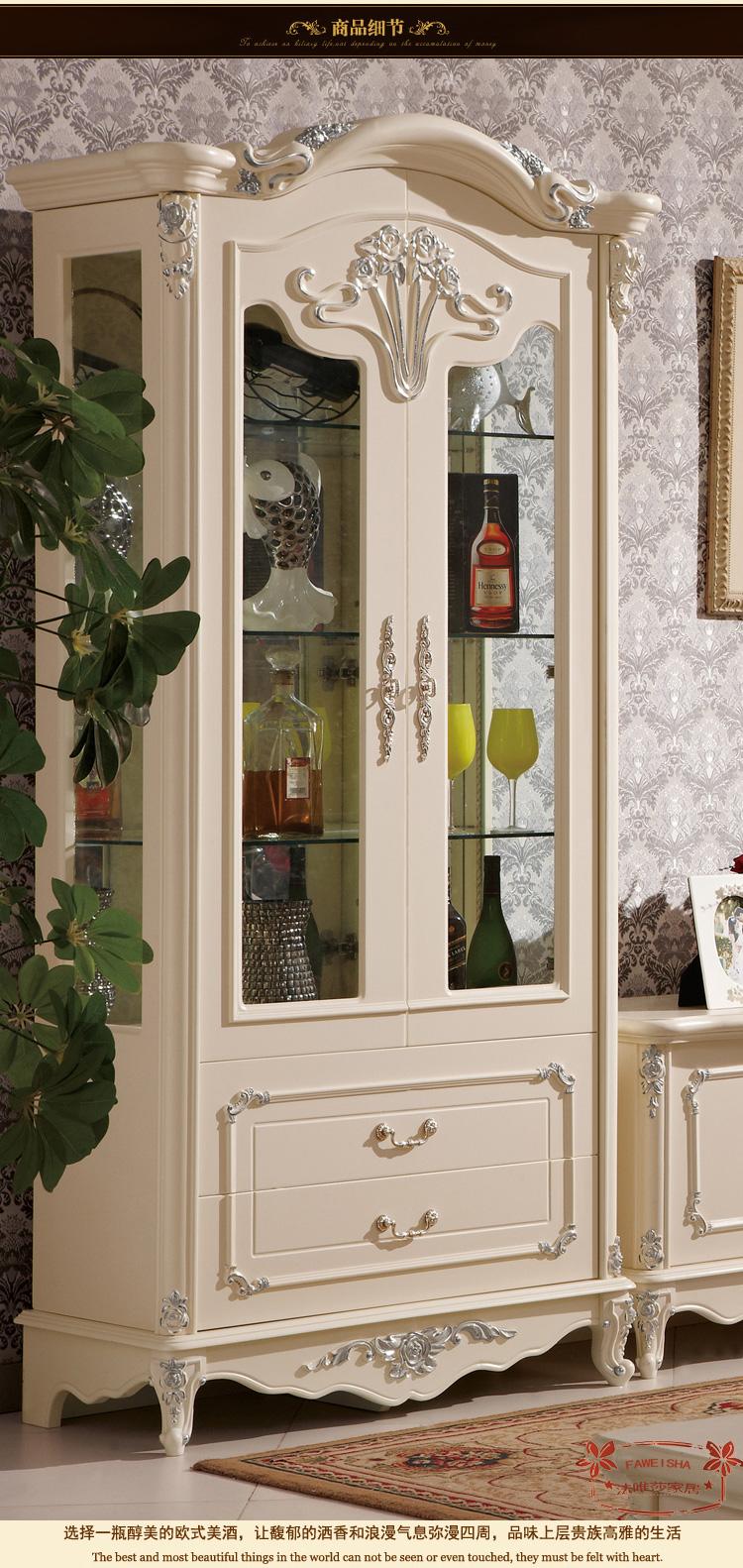 欧式实木酒柜电视柜客厅装饰柜单门双门酒柜装饰柜电视机柜 1.