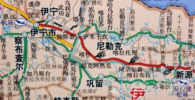 乌鲁木齐市以及新疆地图 .map格式 手机电子地图图片