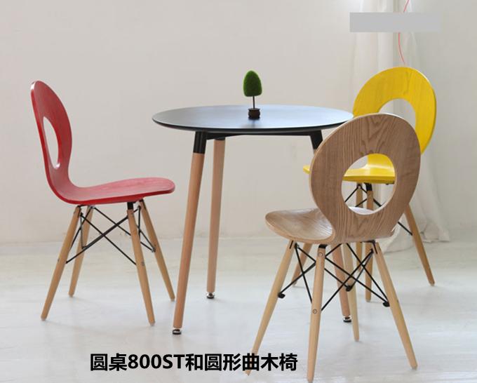洽谈圆桌椅组合实木宜家北欧休闲简约白色咖啡方桌小圆台餐书桌子
