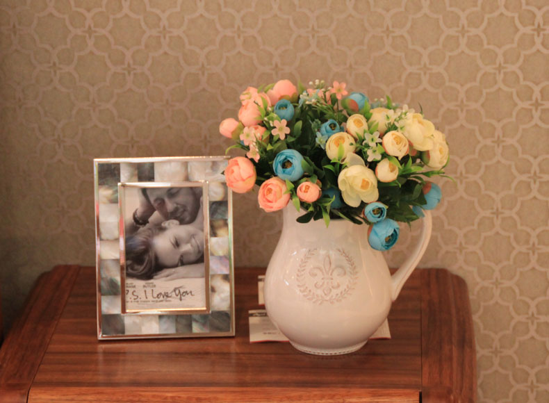 仿真花茶玫瑰花苞盆栽图片