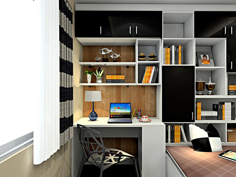 榻榻米衣柜书桌设计图展示图片