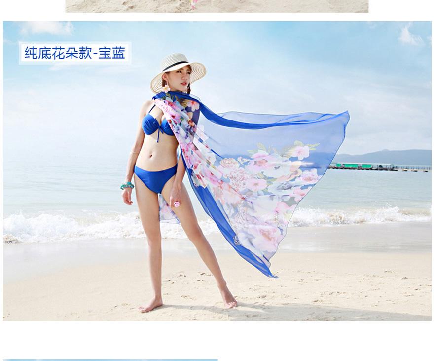 夏季超大丝巾海边遮阳防晒披肩纱巾度假沙滩巾女长款