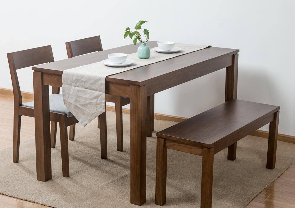 爱家佳 实木餐桌 北欧式餐桌 简约现代纯实木饭桌子 木桌子长方形 qh图片