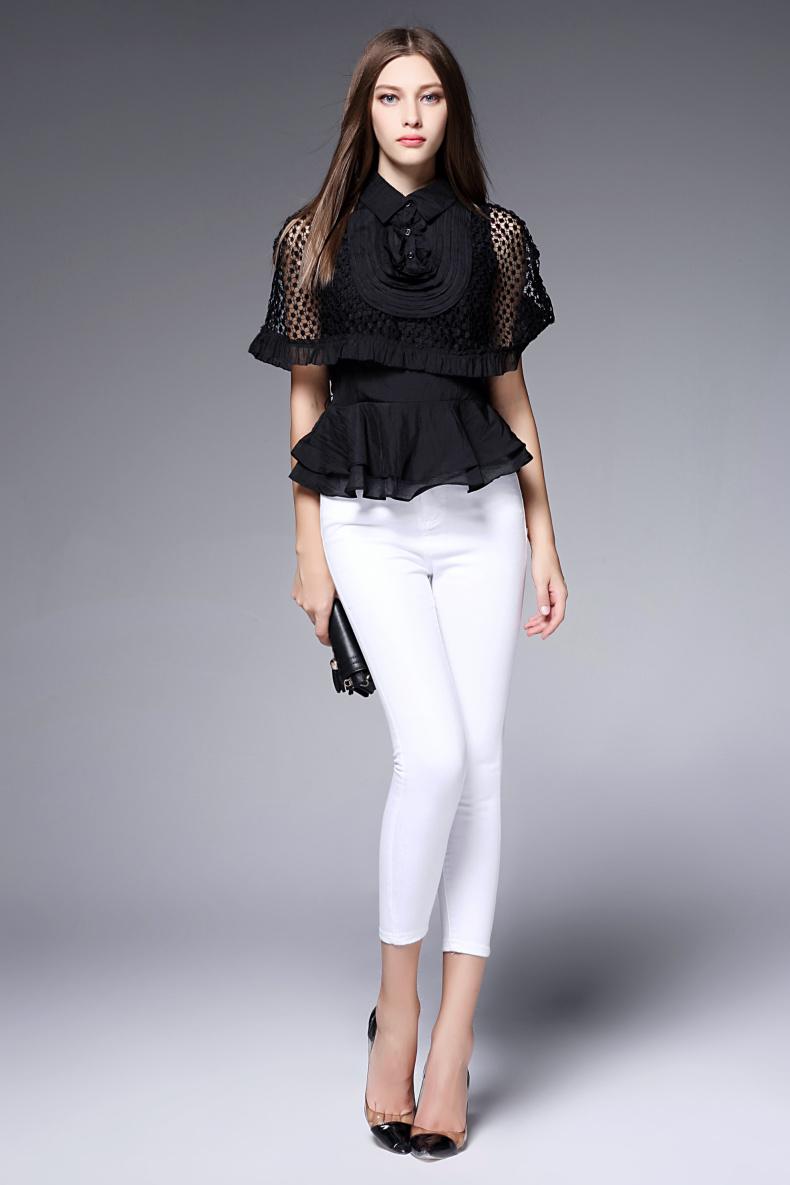 袖跺(h�(�_bomovo2016夏装新品欧美复古蝙蝠袖两件t套上衣女显瘦