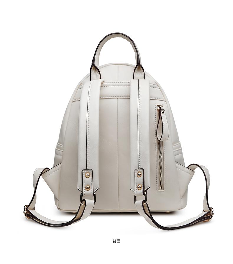 贝蒂丹奴2016春夏新款欧美休闲风 背包双肩包女 简约多口袋 包包 真皮